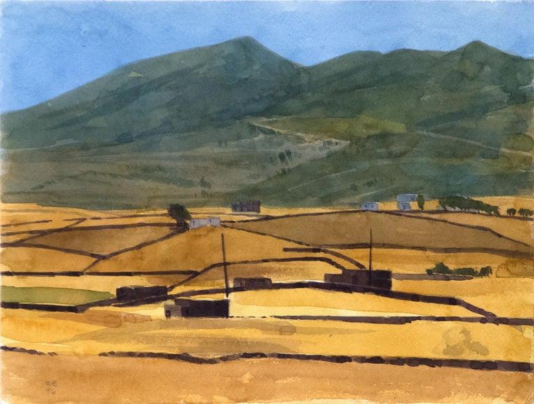 Robert Bechtle Landscape Art - Paros (6/7/96)