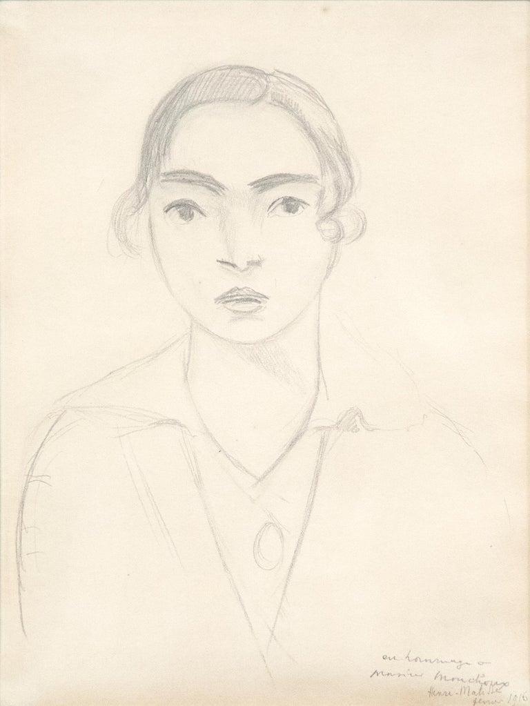 Henri Matisse Portrait - Madame Monchaux