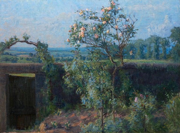 "A painting by Gustave Caillebotte. ""Vue du Jardin de l'Artiste et de la Vallée de Yerres"" is an oil on canvas painting of the artist's garden by French Impressionist Gustave Caillebotte. The translation of the title is ""View of the Artist's Garden"