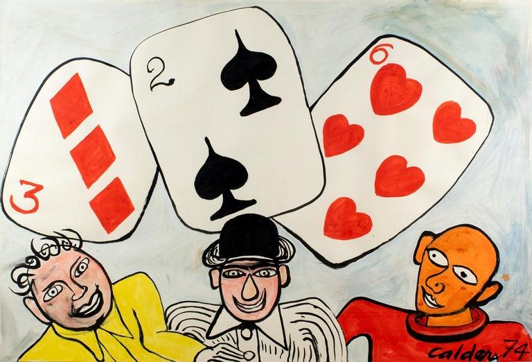 Alexander Calder Figurative Art - Card Players
