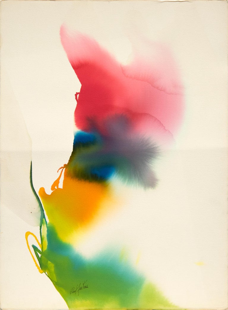 Paul Jenkins Abstract Drawing - Phenomena The Edge of Plume