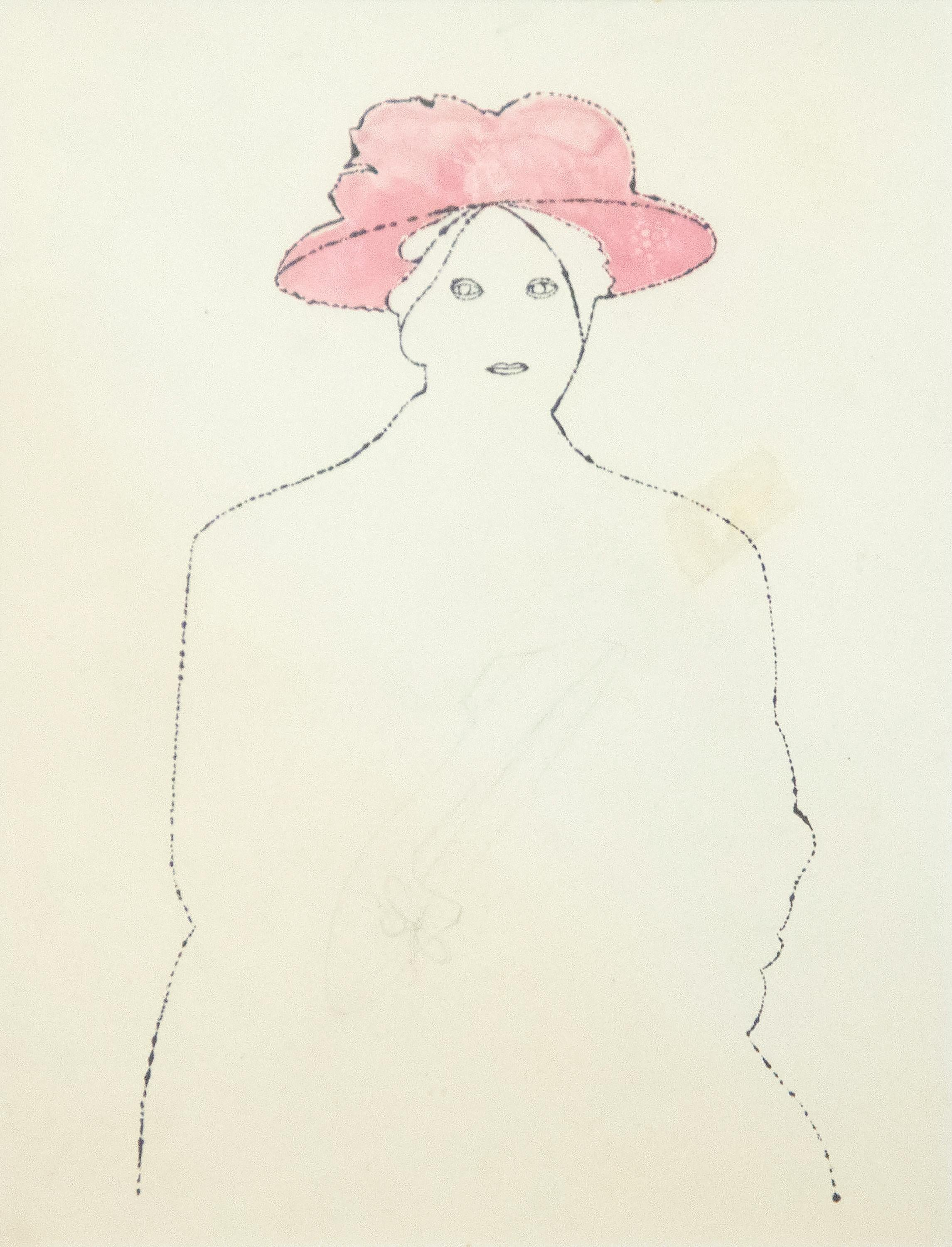 Woman in a Pink Hat