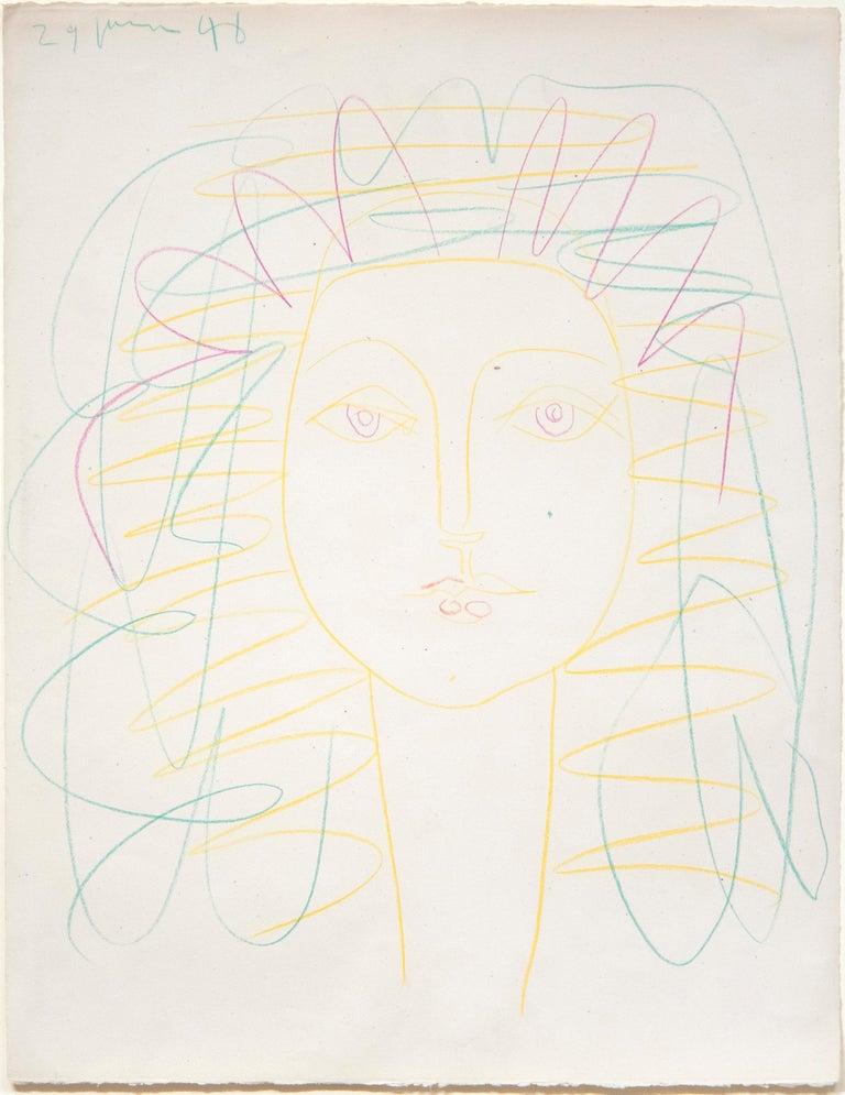 Pablo Picasso Figurative Art - Portrait de Femme (Françoise)