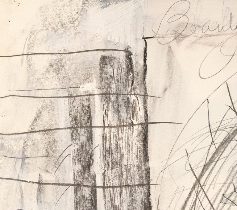A drawing by Pat Steir.
