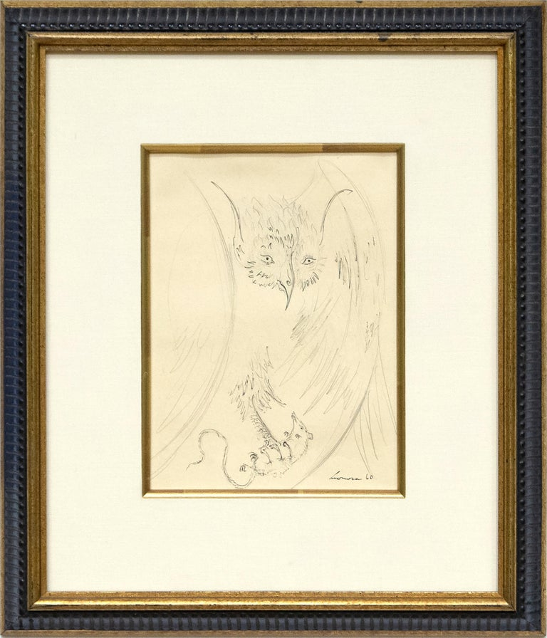 Owl with Prey - Art by Leonora Carrington