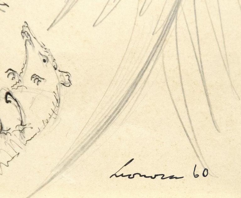 Owl with Prey - Surrealist Art by Leonora Carrington