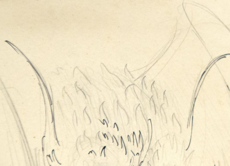 A drawing by Leonora Carrington.
