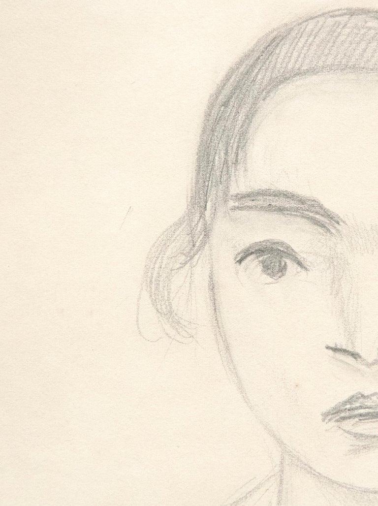 Madame Monchaux - White Portrait by Henri Matisse