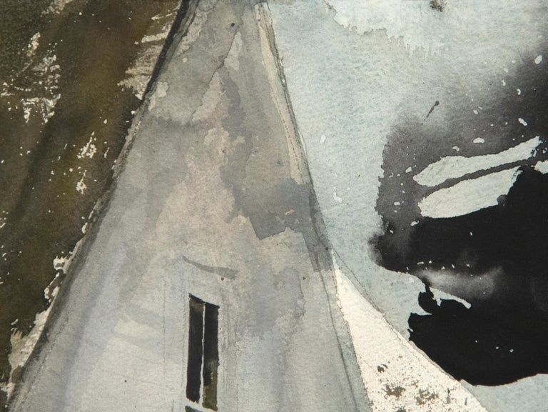 Star Route - Black Landscape Art by Andrew Wyeth