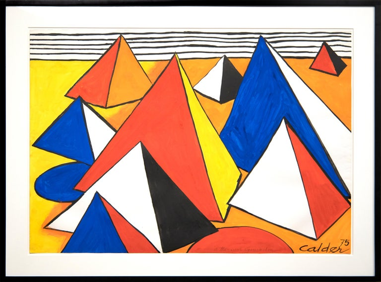 Le Pyramide Orange - Art by Alexander Calder