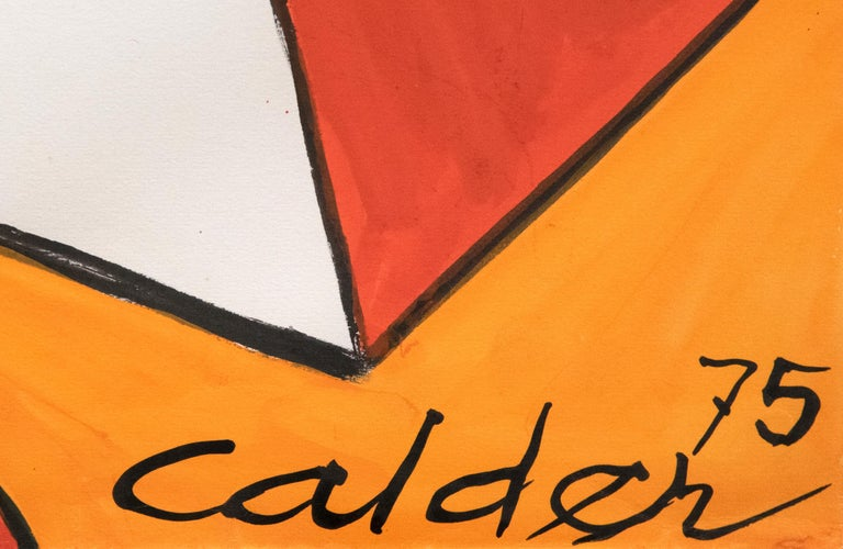Le Pyramide Orange - Post-War Art by Alexander Calder