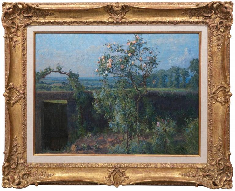 Vue du Jardin de l'Artiste et de la Vallée de Yerres - Painting by Gustave Caillebotte