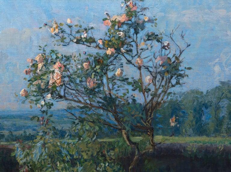 Vue du Jardin de l'Artiste et de la Vallée de Yerres - Impressionist Painting by Gustave Caillebotte