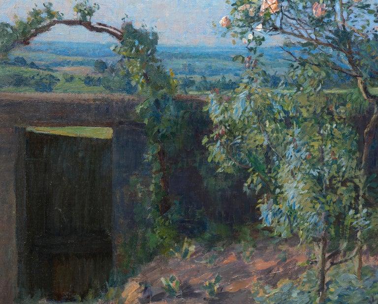 Vue du Jardin de l'Artiste et de la Vallée de Yerres - Black Landscape Painting by Gustave Caillebotte