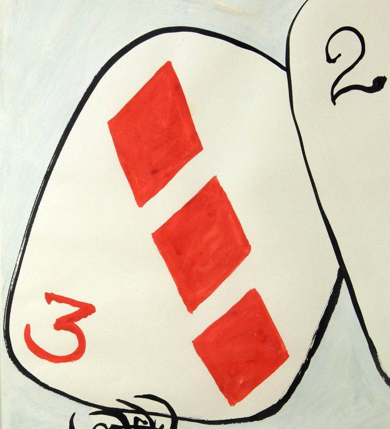 Card Players - Beige Figurative Art by Alexander Calder