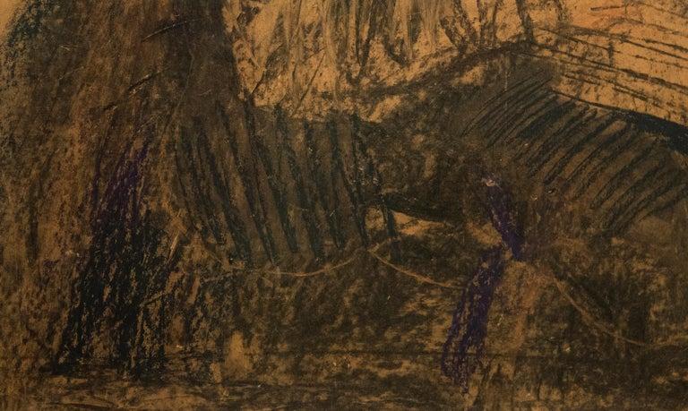 Dibujo a la Manera de Velasquez - Brown Portrait by Fernando Botero