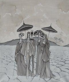 Apocalypse at the Salt Desert by Daniele Davitti - Iluustration Painting