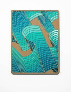 Flow 2 by Daniel Engelberg - mid-century modern feel contemporary epoxy artwork