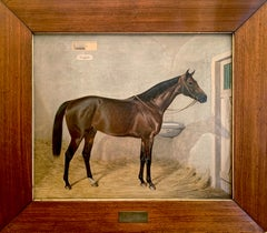 The Stallion by Emil Adam 1916 - equestrian oil painting framed