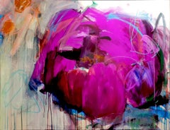 Joy of life by Heidi willberg magenta, pink, purple flower, abstract modern