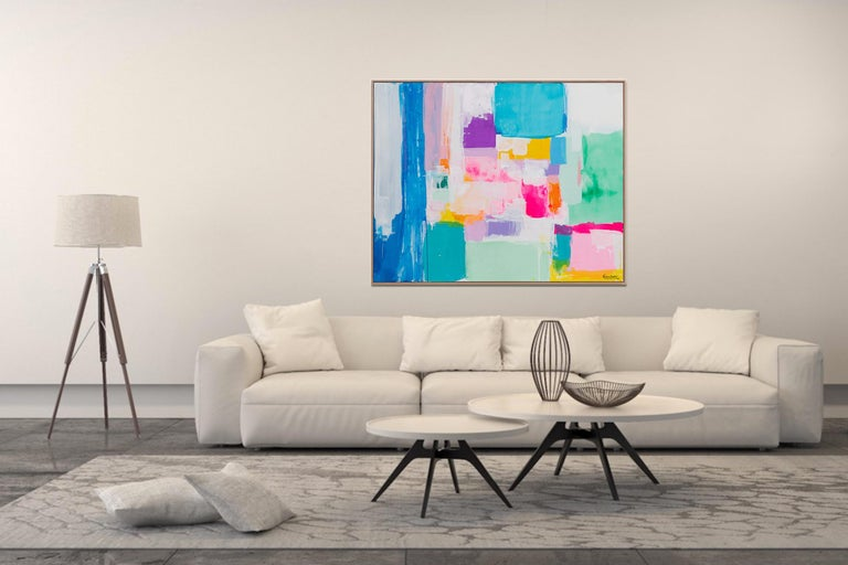 Summer days in Love by Kirsten Jackson, modern contemporary colorful abstract  For Sale 1
