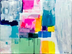 Summertime by Kirsten Jackson, modern contemporary colorful abstract