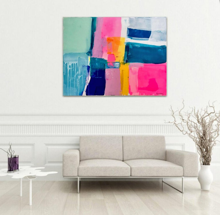 A love like no other by Kirsten Jackson, modern contemporary colorful abstract  - Brown Abstract Painting by Kirsten Jackson