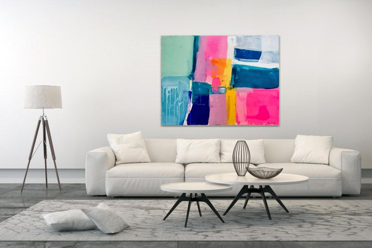 A love like no other by Kirsten Jackson, modern contemporary colorful abstract  - Abstract Painting by Kirsten Jackson