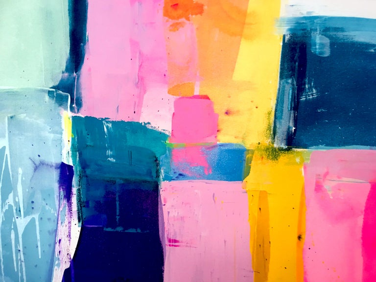 A love like no other by Kirsten Jackson, modern contemporary colorful abstract  - Painting by Kirsten Jackson
