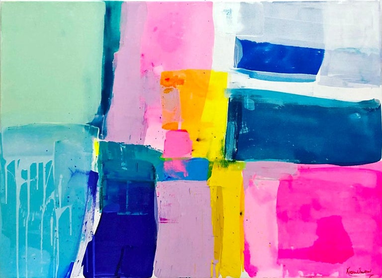 Kirsten Jackson  Abstract Painting - A love like no other by Kirsten Jackson, modern contemporary colorful abstract