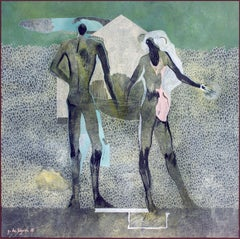 A Couple by Gaetan de Seguin - contemporary abstract & figurative painting