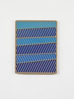 Blue Glitch 3 Daniel Engelberg -mid-century modern, contemporary epoxy artwork