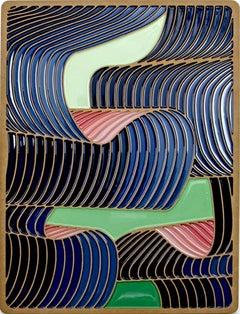 Art Nouveau Daniel Engelberg -mid-century modern, contemporary epoxy artwork