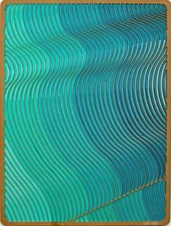 Flow 1 by Daniel Engelberg - mid-century modern feel contemporary epoxy artwork