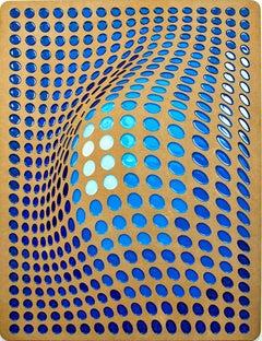 Upgrade by Daniel Engelberg - mid-century modern feel contemporary epoxy artwork
