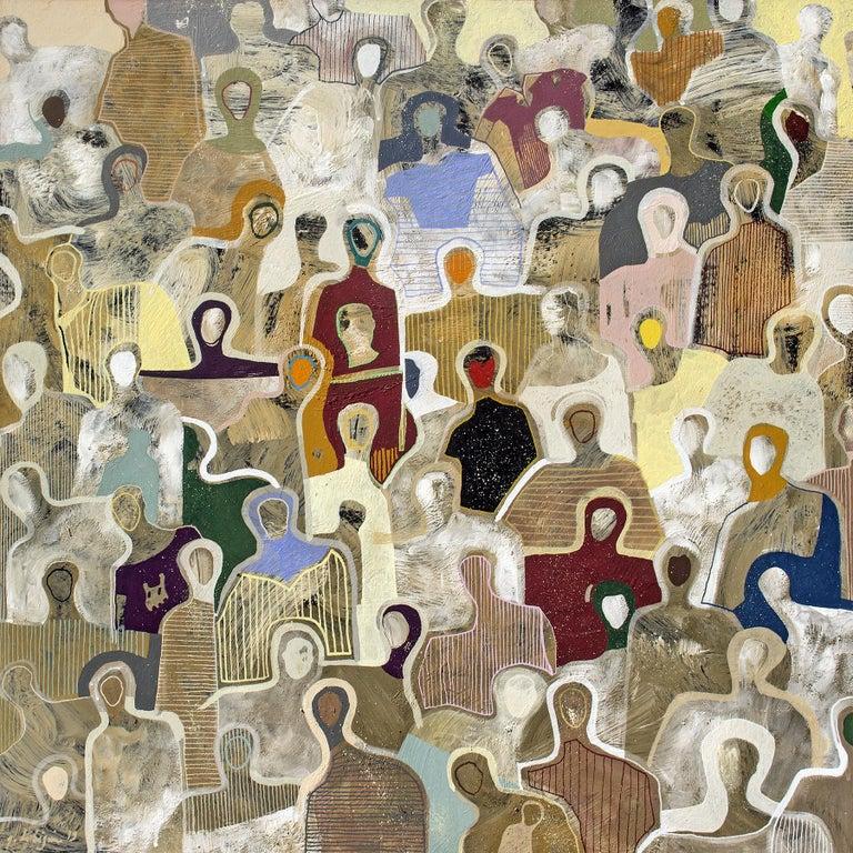 Gaëtan de Seguin Abstract Painting - The Purple Tunic by Gaetan de Seguin contemporary abstract & figurative painting