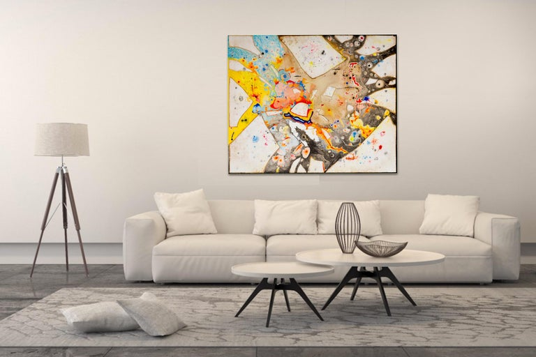 Glass  by Detlef Aderhold - Large Energetic Contemporary Abstract Painting For Sale 1