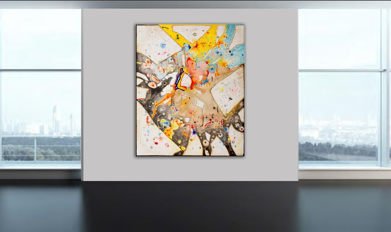 Glass  by Detlef Aderhold - Large Energetic Contemporary Abstract Painting For Sale 3