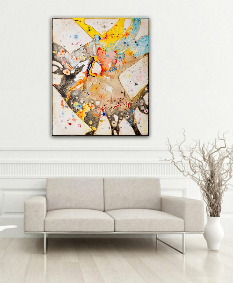 Glass  by Detlef Aderhold - Large Energetic Contemporary Abstract Painting For Sale 4