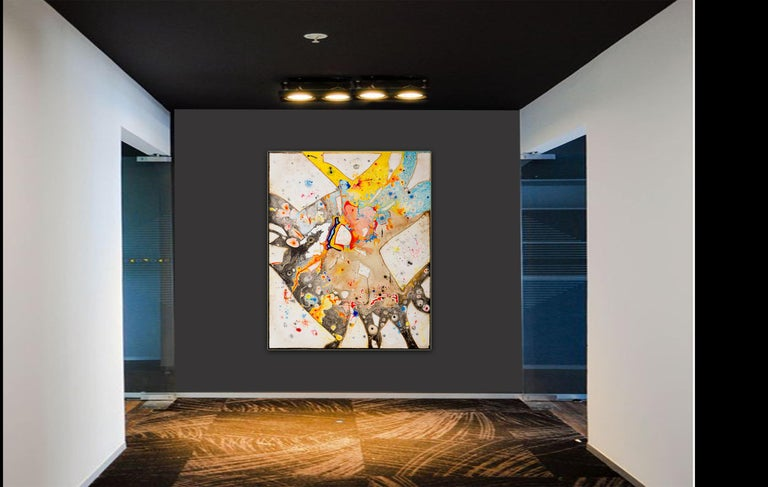 Glass  by Detlef Aderhold - Large Energetic Contemporary Abstract Painting For Sale 6