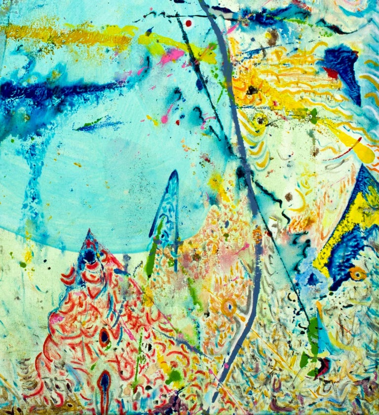 Korn Take 2 by Detlef Aderhold - Large Energetic Contemporary Abstract Painting For Sale 2