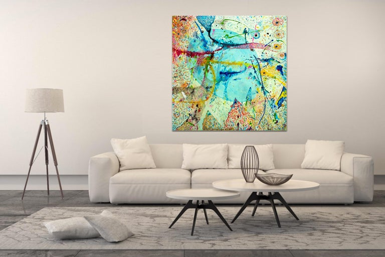 Korn Take 2 by Detlef Aderhold - Large Energetic Contemporary Abstract Painting For Sale 1