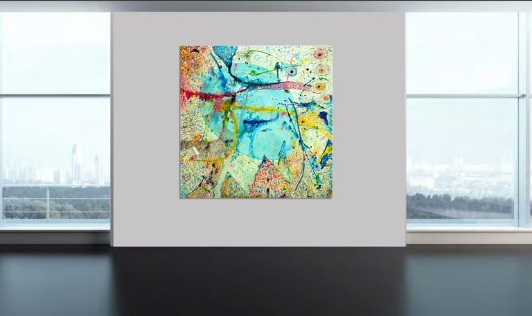 Korn Take 2 by Detlef Aderhold - Large Energetic Contemporary Abstract Painting For Sale 3