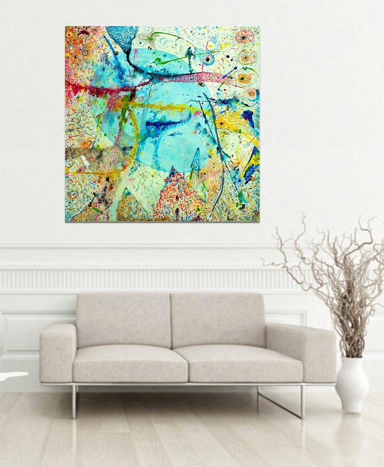 Korn Take 2 by Detlef Aderhold - Large Energetic Contemporary Abstract Painting For Sale 5