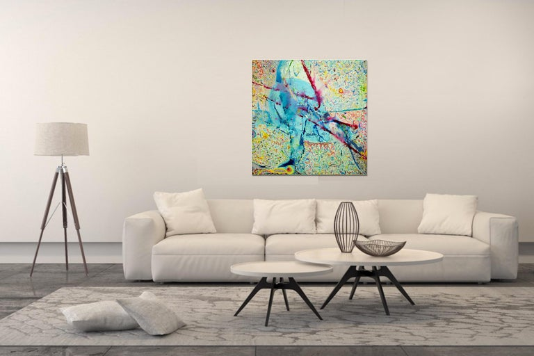Korn Take 4 by Detlef Aderhold - Large Energetic Contemporary Abstract Painting For Sale 3