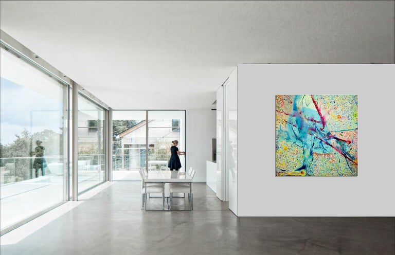 Korn Take 4 by Detlef Aderhold - Large Energetic Contemporary Abstract Painting For Sale 5