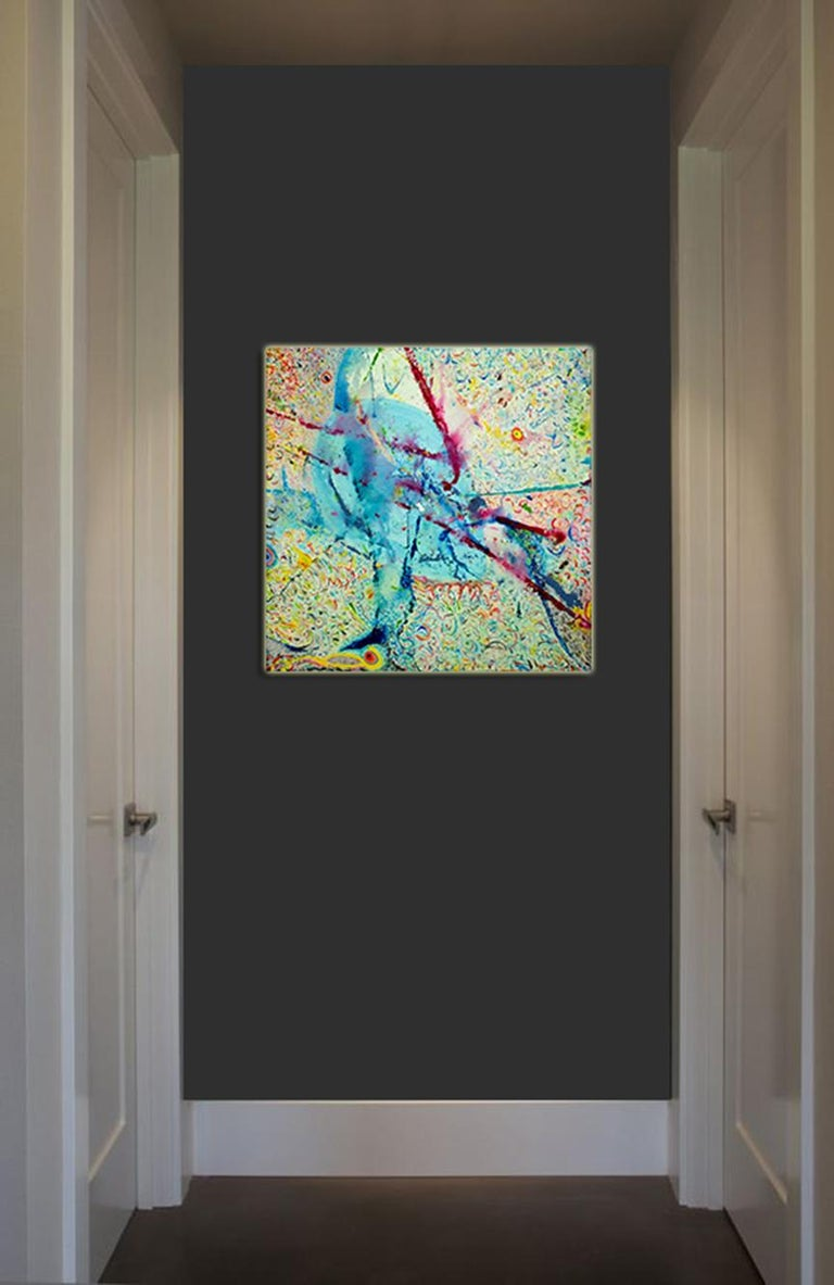 Korn Take 4 by Detlef Aderhold - Large Energetic Contemporary Abstract Painting For Sale 6