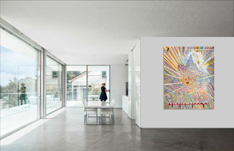 Center 1 by Detlef Aderhold - Large Energetic Contemporary Abstract Painting For Sale 1