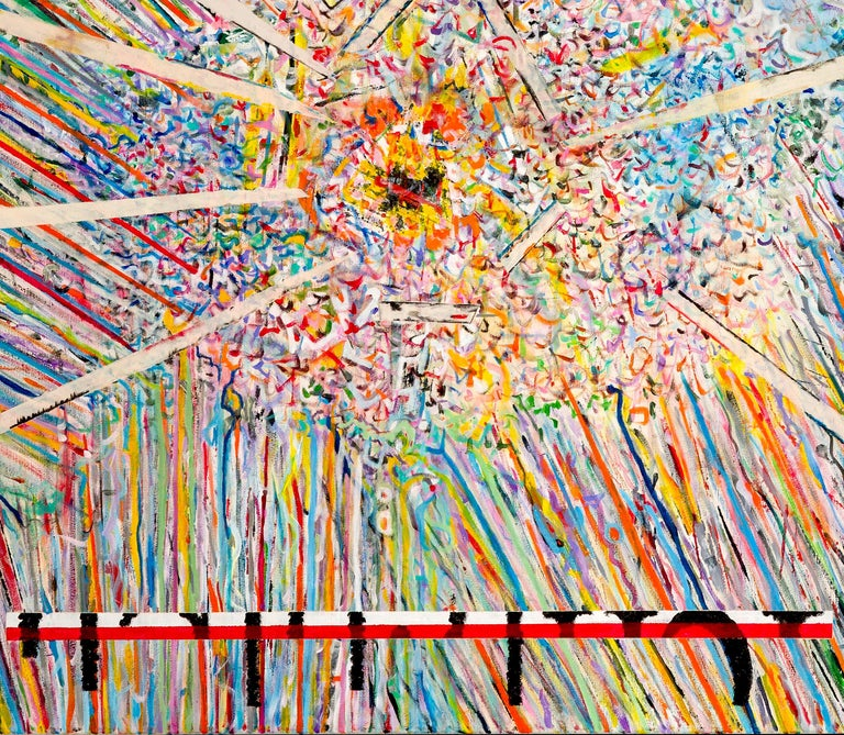 Center 1 by Detlef Aderhold - Large Energetic Contemporary Abstract Painting For Sale 3