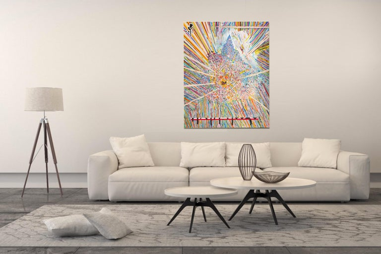 Center 1 by Detlef Aderhold - Large Energetic Contemporary Abstract Painting For Sale 4